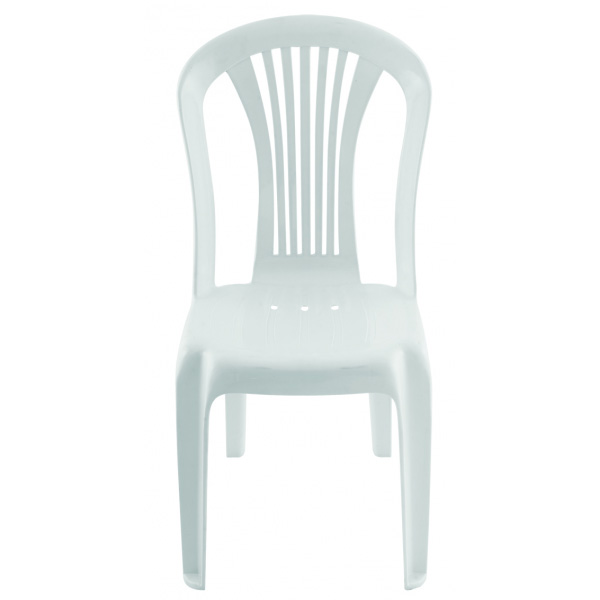 Chaise blanche plastique maison design for Chaise blanche plastique